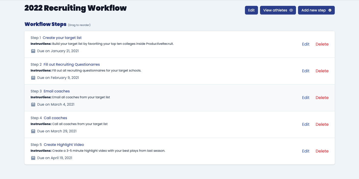 Custom Recruiting Workflows